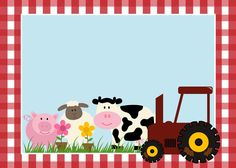 Free Printable Farm Party Invitations, Labels or Cards. Farm Animal Party, Farm Animal Birthday, Barnyard Party, Farm Birthday, Birthday Party Invitations Free, Birthday Party Themes, Party Labels, Farm Theme, Party Kit