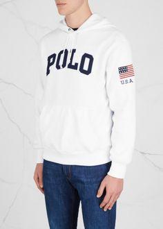 Polo Ralph Lauren Logo-appliquéd fleece sweatshirt - Harvey Nichols