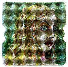 egg carton art, upper elem. pair with pointillism or pop art lesson?