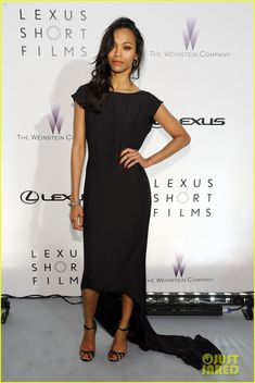 Zoe Saldana steps out for the Lexus Short Film Series Life Is Amazing presented by The Weinstein Company and Lexus held at Olympia Theatre on Sunday (May 19) in…
