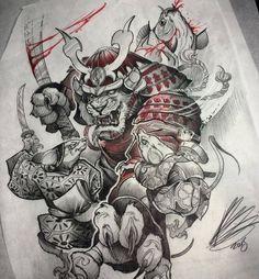 Каталог эскизов тату с самураями, идеи для разработки индивидуального дизайна, фотографии татуировок. Значение тату с самураем.