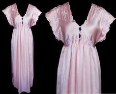 Vintage Nightgown by Natori From Saks Fifth Avenue 1980s Pink Nightgown 6a9801335