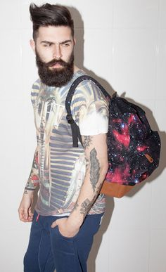 Bearded Man With Space Bag!