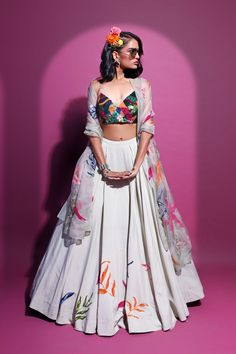 Indian Bridal Outfits, Indian Designer Outfits, Indian Designers, Designer Clothing, Indian Lehenga, Lehenga Choli, Western Lehenga, Indian Attire, Indian Wear