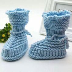 Girl Handmade Newborn Knit Booties Baby Girl Handmade Newborn Knit Booties-JadeMoghul Inc.Baby Girl Handmade Newborn Knit Booties-JadeMoghul Inc. Baby Booties Knitting Pattern, Knitted Booties, Knitted Slippers, Baby Knitting, Knitting Patterns, Knit Baby Dress, Baby Cardigan, Crochet Shoes, Knit Crochet