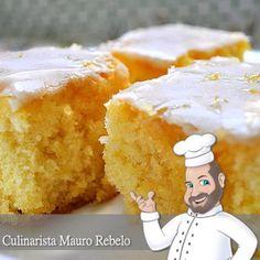 Esse bolo de laranja é super fofo, molhadinho e delicado. Na época que vendia doces, preparava esse bolo e vendia em pedaços. É óti...
