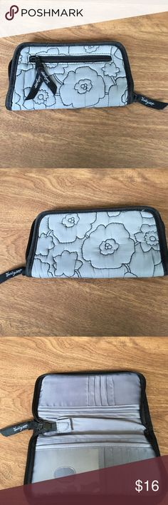 Thirty-one wallet Black trim and grey floral thirty-one wallet. Great storage! Bags Wallets