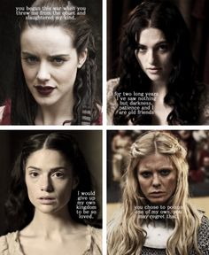 Nimueh, Morgana, Mithian, and Morgause Merlin Quotes, Merlin Memes, Merlin Funny, Merlin Morgana, Merlin And Arthur, King Arthur, Best Tv Shows, Movies And Tv Shows, Merlin Fandom