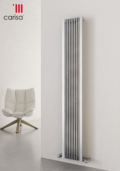 The Designer Radiator Company - Carisa Designer Radiators - Stainless Steel Range  Stripe Vertical.jpg