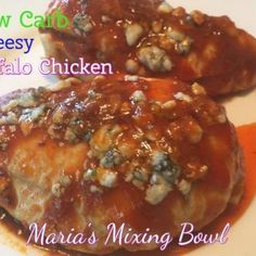 Chicken breast stuffed with mozzarella and blue cheese. Cheesy, spicy and family favorite We are HUGE Buffalo Chicken lovers. Buffalo wings, boneless buffalo wings, buffalo chicken dip a… Macaroni Recipes, Seafood Recipes, Chicken Recipes, Low Carb Recipes, Cooking Recipes, Healthy Recipes, Meat Recipes, Delicious Recipes, Cake Recipes