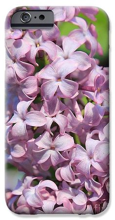 Lilacs IPhone 6s Case featuring the photograph Lilacs Closeup by Carol Groenen #lilacs #lightpurple #prettyphonecase #phonecases #gifts #forher #giftsformom #springphonecases