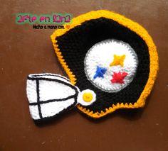 Gorro Futbol Americano a #crochet