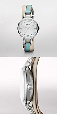 I am obsessed with Fossil watches and jewelry.