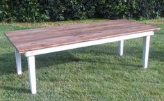 Vineyard Natural Top Dining Table | Town & Country Event Rentals