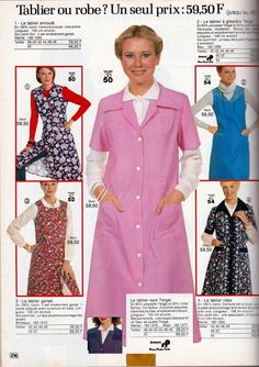 Nylons, Blouse Nylon, Staff Uniforms, Housecoat, Smocking, Style Fashion, Apron, Overalls, Blouses