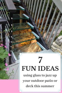 Check out how glass was used on this outdoor patio that really jazzed things up for this homeowner! It is beautiful what you can do with glass!