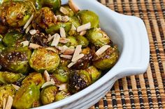 yummy Maple Dijon Roasted Brussels Sprouts.