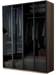 Black Bedroom Design, Wardrobe Design Bedroom, Bathroom Design Luxury, Modern Wardrobe, Closet Storage Systems, Wardrobe Storage, Wardrobe Closet, Built In Wardrobe, Shop Interior Design