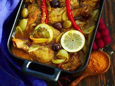 Marrakechin broileri Marrakech, Pot Roast, Chicken Recipes, Chicken Meals, Good Food, Healthy Recipes, Healthy Food, Gluten Free, Menu
