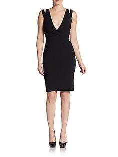 Cutout Slit-Shoulder Dress
