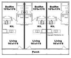 1000 images about floor plans on pinterest floor plans for Triplex plans one story