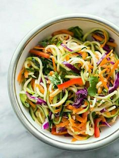 Zucchini noodle salad asian style