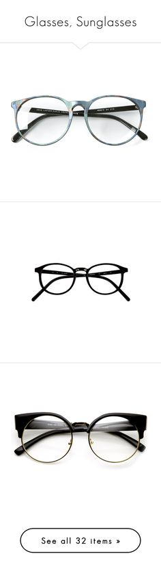"""""""Glasses, Sunglasses"""" by kristina-sek ❤ liked on Polyvore featuring accessories, eyewear, eyeglasses, glasses, sunglasses, colorful eyeglasses, vintage eyeglasses, vintage eye glasses, oversized eyeglasses and vintage glasses"""