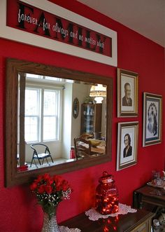 Striking Red Accent Wall