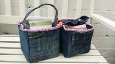 Craft tote made of old jeans