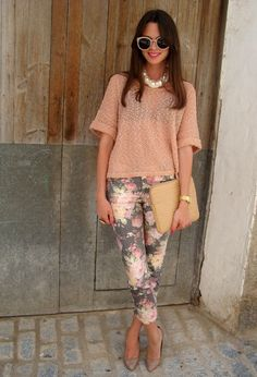 Florals Are Going To Be Spring Favorites! - Floral Pants ...now go forth and share that BOW  DIAMOND style ppl! ;-) xx