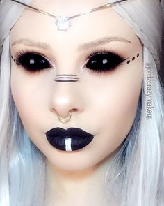 Dark Elfin Princess Makeup (Elf, sprite, fairy, mystical, pretty)