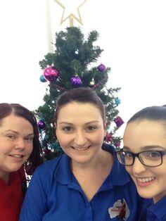 Mel, Bridget and Georgia at Christmas time