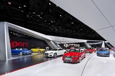 Audi introduces new brand space concept at 2014 Paris Motor Show. Audi had a powerful, progressive presence at the 2014 Mondial de l'Automobile in Paris that consistently reflected its brand promise, »Vorsprung durch Technik«.
