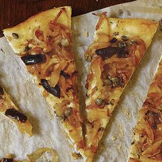 Rustic Onion Tart with Olives, Capers, and Anchovies - FineCooking
