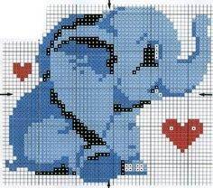 Adorable Elephant cross stitch