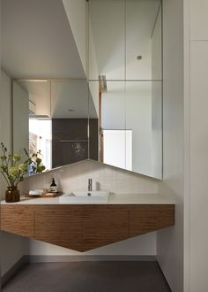 Great detailing in this contemporary bathroom   Cross Stitch House / FMD Architects