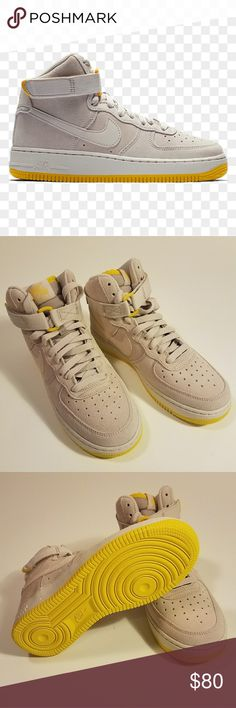 a75c25aa5c NEW NIKE | air force 1 NWOB Nike Air Force 1 Youth 5, fits women 7 Light  tan (stone) and yellow Leather Ankle strap Nike Shoes Sneakers
