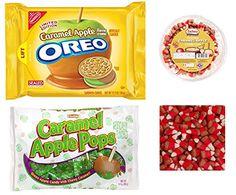 Caramel Apple Super Sampler Variety Pack with Caramel Apple Oreos, Zachary Caramel Apple Candy Corn, Tootsie Caramel Apple Pops, Plus a Recipe Booklet Oreo Turkey Pops mummy bark Fall Halloween Thanksgiving Parties  http://www.amazon.com/dp/B00NMLMIHW/ref=cm_sw_r_pi_dp_TGThub1VZ3JQG