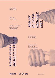 Philips light bulbs on Behance