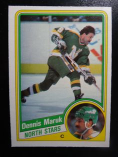 1984 O-Pee-Chee #101 Dennis Maruk Minnesota North Stars Hockey Card #OPeeChee #MinnesotaNorthStars