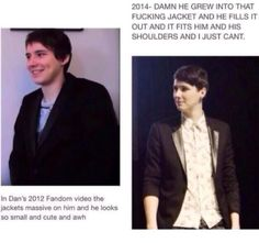 I guess Dan's not a fetus anymore. Is it weird that this picture is giving me the feels? I guess I've been his viewer for such a long time, I didn't even realize how many years have passed. :*) ( ok, now I just sound like his mom...)