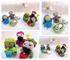 Crochet Patterns Nativity  Haakpatroon kerststalfiguurtjes