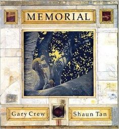 This book blends a sensitive text with brilliantly original collage art by Shaun Tan to bring an important lesson to young readers. http://www.amazon.com/Memorial-Simply-Read-Books-Gary/dp/1894965086/ref=sr_1_140?m=A3030B7KEKNTF7&s=merchant-items&ie=UTF8&qid=1394660101&sr=1-140&keywords=children%27s