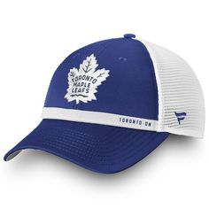 218bf6d95 Men s Toronto Maple Leafs Fanatics Branded Blue White Authentic Pro  Rinkside Trucker - Adjustable Hat