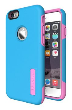 iPhone 6 Case - (70% OFF) TOTU & LOOPEE [ Heavy Duty ] Candy Dual Layer Hybrid Case for iPhone 6 4.7 inch cover (Blue / Pink)