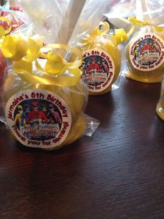 Yellow Power Ranger candy apples