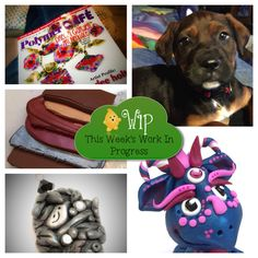 WIP Wednesday in Kater's Acres Polymer Clay Studio | New Puppy = No Work Done