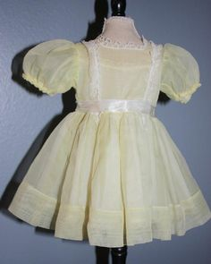 Bizspeaking.com deal: Yellow Nylon Ideal Shirley Temple Dress from camelot-pc-rl on Ruby Lane at $35 http://bizspeaking.com/s/KENM