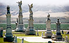 Guadalupe cemetary and angel statues by www.centralcoastpictures.com