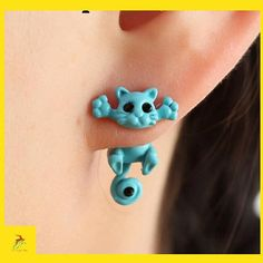 Kittenup New Multiple Color Clic Fashion Kitten Animal Brincos Jewelry Cute Cat Stud Earrings For Women S